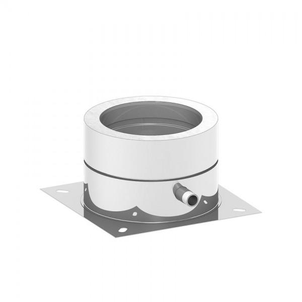 isoBIT Grundplatte Bodenmontage 150 mit Ablauf seitlich