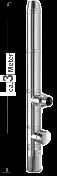 DW Edelstahl-Kamin  Boden Bausatz ca. 3m - Ø180mm
